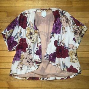 odille | Anthropologie Floral Open Front Kimono